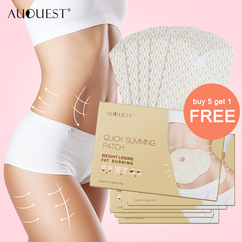 11.11 AuQuest Detox Fat Burning Patch Natural Remove Abdominal Belly Leg Arm Fat Slimming Adhesive Paste Health Weight Loss