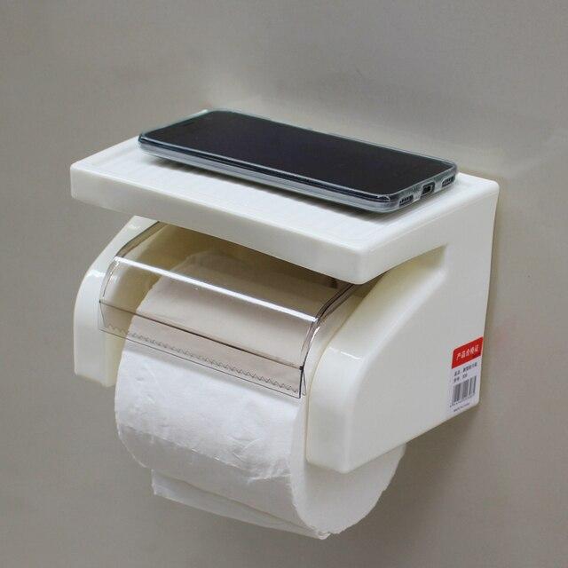Durable Bathroom Accessories Plastic Toilet Paper Holder Tissue Roll Box