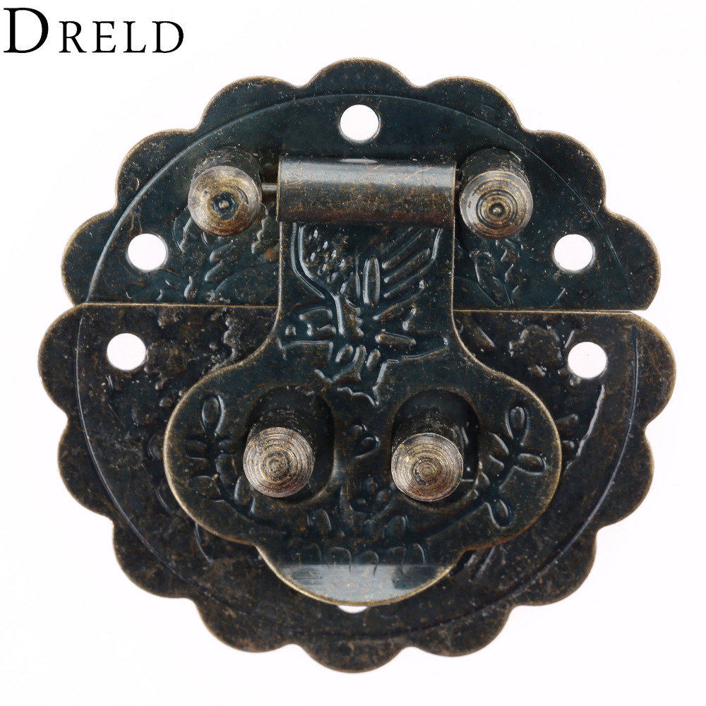Antique Retro Vintage Decorative Latch Wooden Jewelry Box Hasp Chest Lock LIN