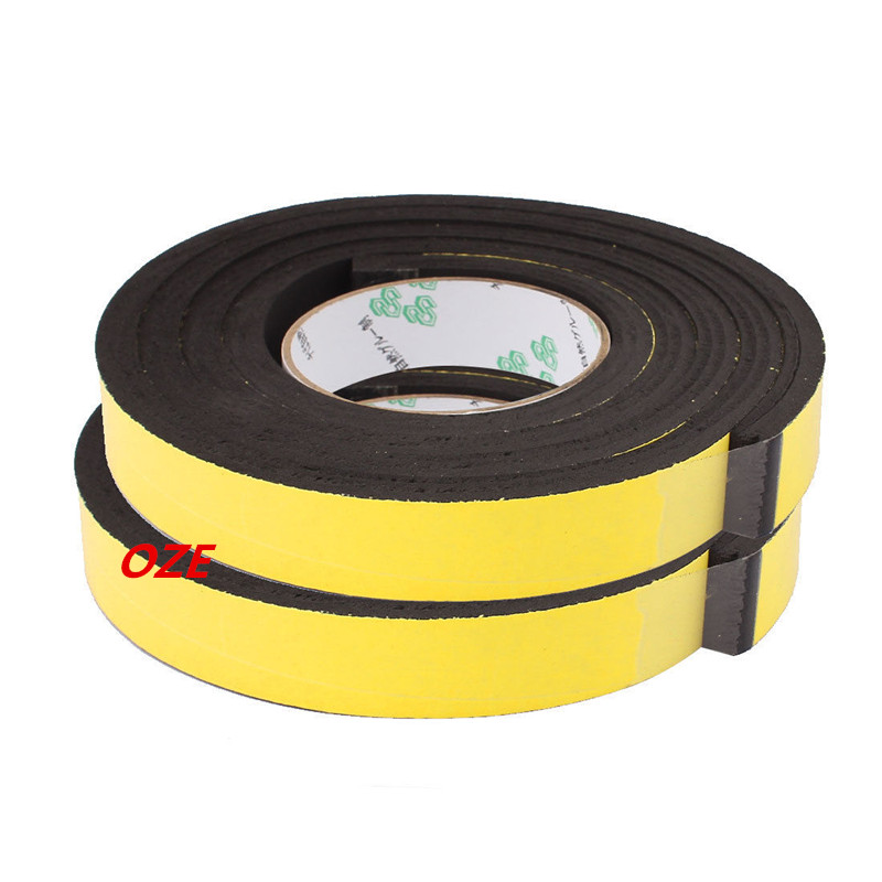 2PCS 2.5x 1cm Single Sided Self Adhesive Shockproof Sponge Foam Tape 2M Length 1pcs single sided self adhesive shockproof sponge foam tape 2m length 6mm x 80mm