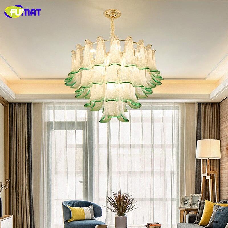 FUMAT Modern Crystal Chandelier led light lustres de cristal Decoration Glass Chandelier Pendant Living Room Kitchen Indoor Lamp