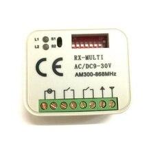 1PCS RX receptor de MULTI 300-868MHZ remoto Da Garagem portão AC/DC 9-30V transmissor receptor da porta da garagem para o comando do controle do portão