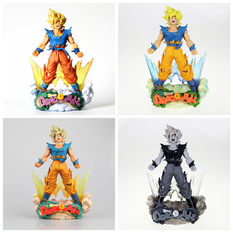 Toys & Hobbies 25cm Dragonlball Super Msp Son Goku Figure Toy Pvc Collection Dbz Model Decoration Brinquedos Gift