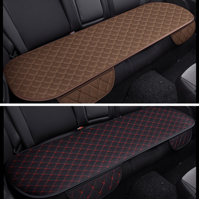 Universal Rear Back Flax Cotton Car Seat Cover Sit Protector Vehicles Non Slip Keep Clean