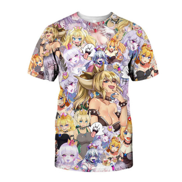 Funny Anime Hoodies Harajuku Sexy Princess Print Pullover Bowsette Halloween Girl Sweatshirt Hip Hop Streetwear Women/men's Tops 5
