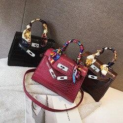 High Quality Crocodile Designer Shoulder Female Messenger Women Bags Women's Bag Alligator Bags Anti-theft Luxury Handbags