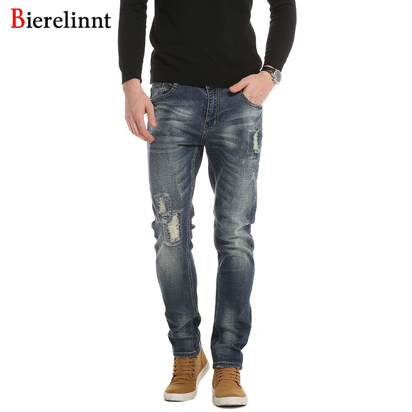 Bierelinnt Ripped Hole 2017 New Retail & Wholesale Cotton Slim Fit Jeans Men,Good Quality Denim Long Pants Men Jeans,PG6388# alok kumar singh hari shankar shukla and hausila prasad pandey breast carcinoma