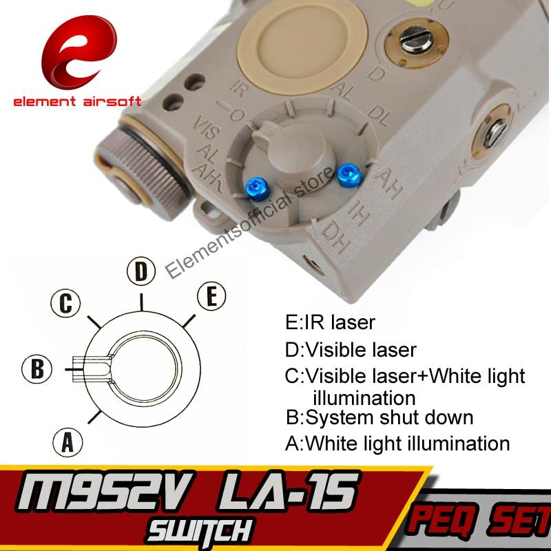 EX 276 Στοιχείο Λα-PEQ15 τακτικό φως Airsoft - Κυνήγι - Φωτογραφία 2