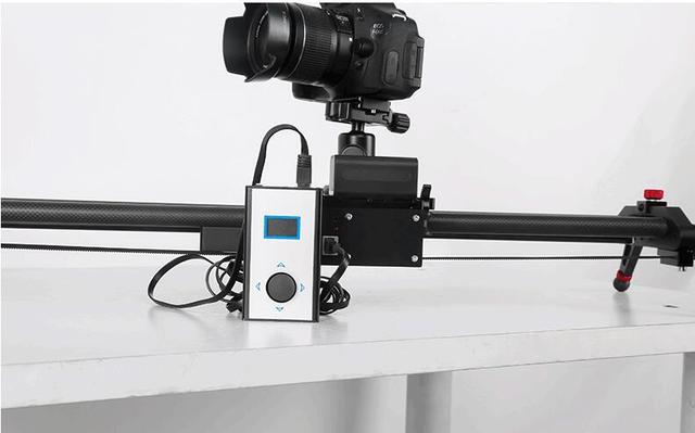 New Carbon Fiber Stepper Motor Motorized Timelapse Video Camera Slider Follow Focus Rail Carbon Slide for Electric Control DSLR