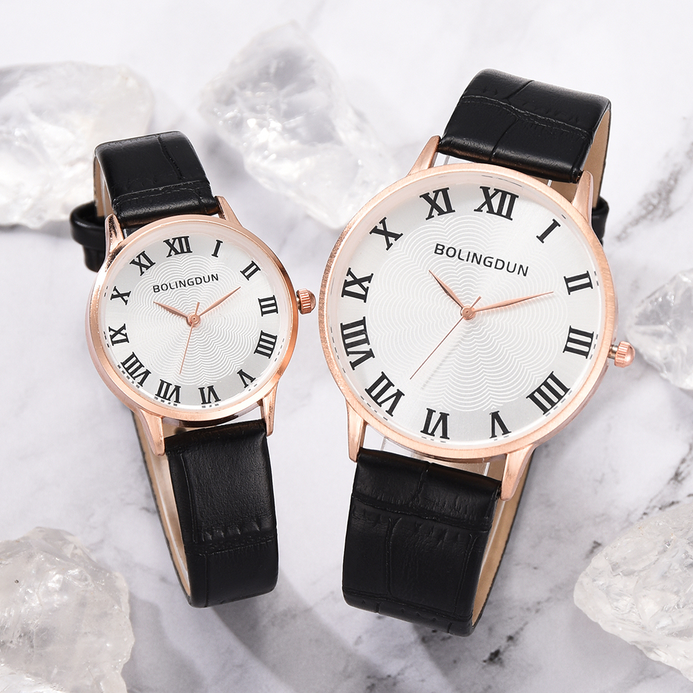 New Women Dress Watches Watches Men Luxury Brand Fashion& Casual Lover Couple  Leather Strap Clock Relogio Feminino