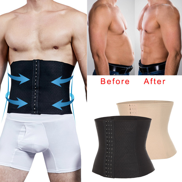 Men Waist Trainer Sweat Slim Belt Modeling Strap Waist Cincher For Men Compression Body Shaper Girdle Shaperwear Tummy Corset
