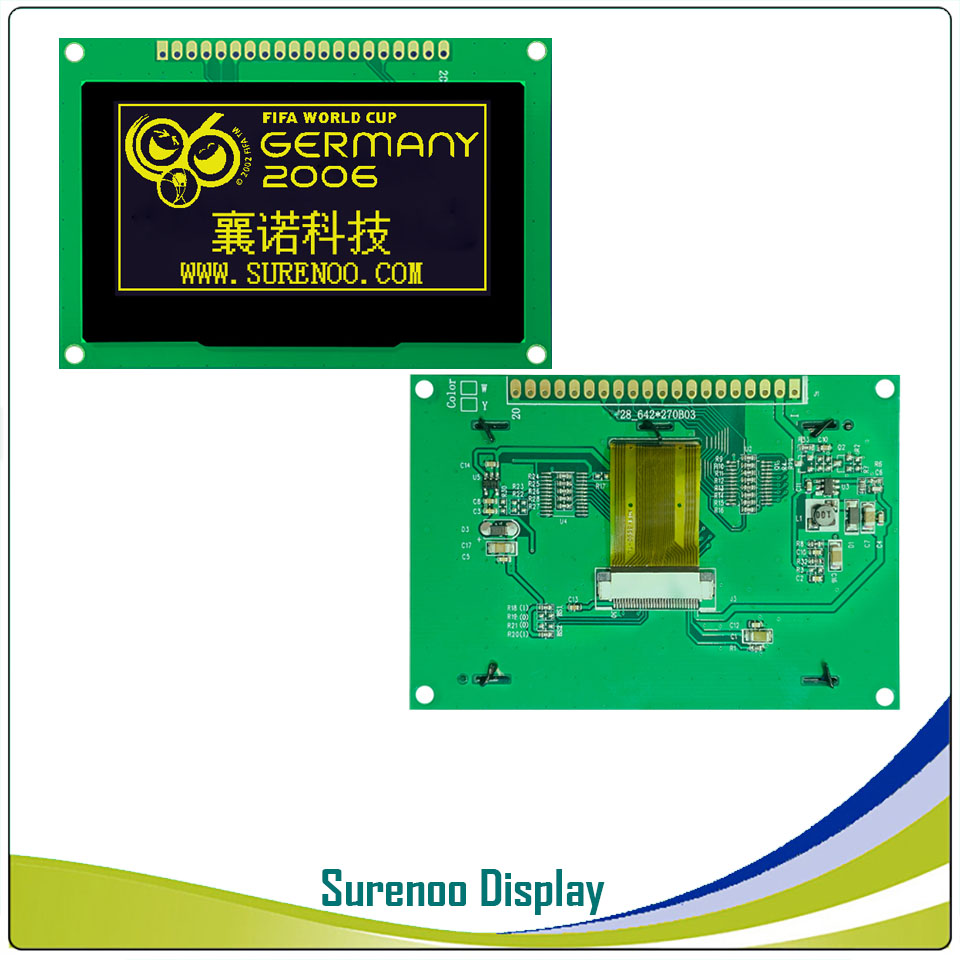 """Image 3 - Real OLED Display, 2.7"""" 128*64 12864 Graphic LCD Module Display Screen LCM Screen SSD1325 Controller Support Parallel SPILCD Modules   -"""