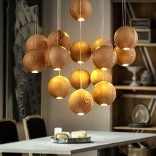 Nordic IKEA Kreative Persnlichkeit Beleuchtung Lampe Minimalistischen Restaurant Hngelampen Wohnzimmer Holz Handwerk Pendelleu