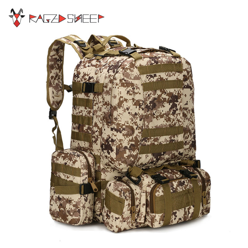 Raged Sheep High Quality 75l Large Capacity Travel Military Camouflage Backpack Men Multifunctional Men Backpack Rucksack Bag high quality authentic famous polo golf double clothing bag men travel golf shoes bag custom handbag large capacity45 26 34 cm