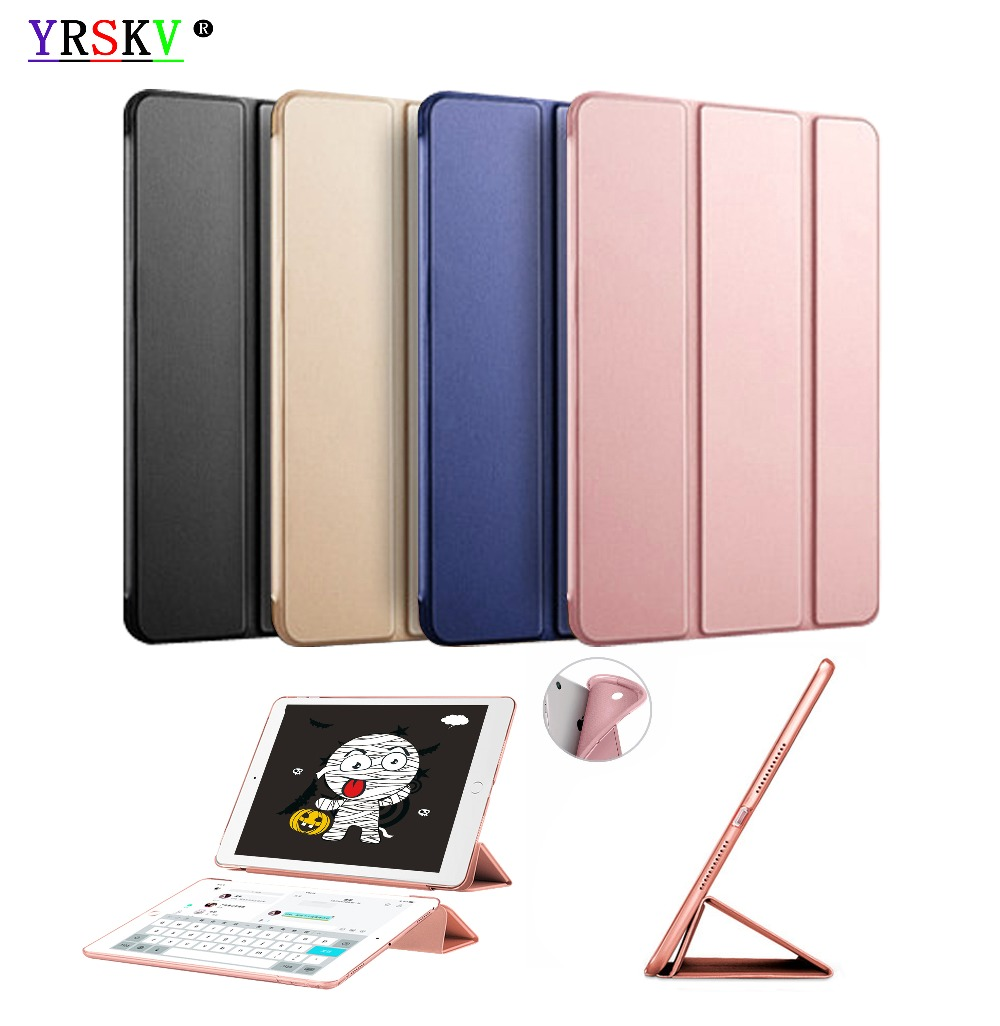 Case for iPad 9.7 inch 2018 / 2017 YRSKV Ultra Slim Light weight PU leather cover+TPU shell Smart Auto Sleep Wake Tablet Case все цены