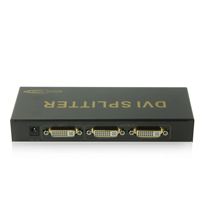 EKL 2 Port DVI Splitter 1 in 2 out Support Resolution up to 1080p