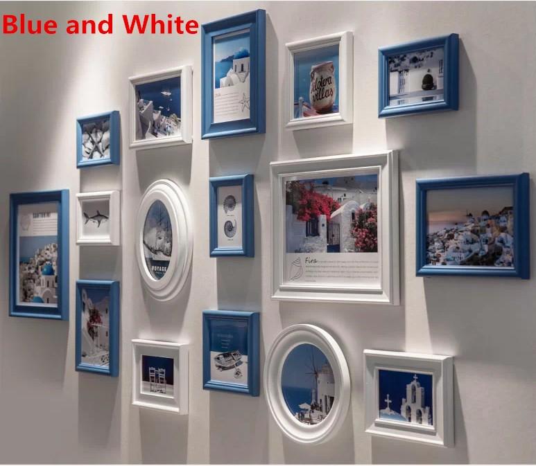 Marcos de cuadros Vintage negro / blanco Color de pared Vintage ...