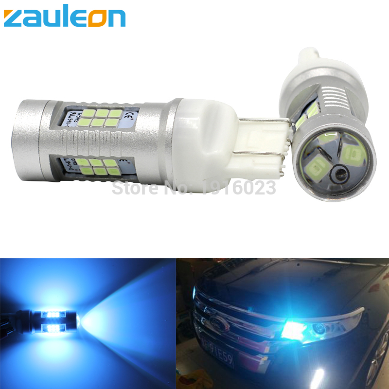 Zauleon 2pcs 7440 W21W 7443 W21/5W Ice Blue Daytime Running Light Crystal Blue DRL T20 lamp 520 lumens Car LED light source maverick ice 5 blue