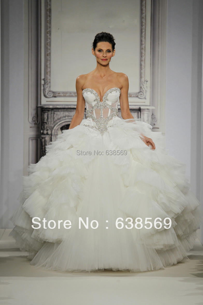 Sexy Pnina Tornai Bridal Gowns Vintage Castle Ball Gown Sweetheart
