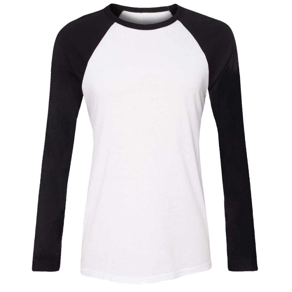 b6aec12c iDzn Brand Clothing New Fashion Summer Casual Womens T-shirts Lady Black  Red Girl's Raglan