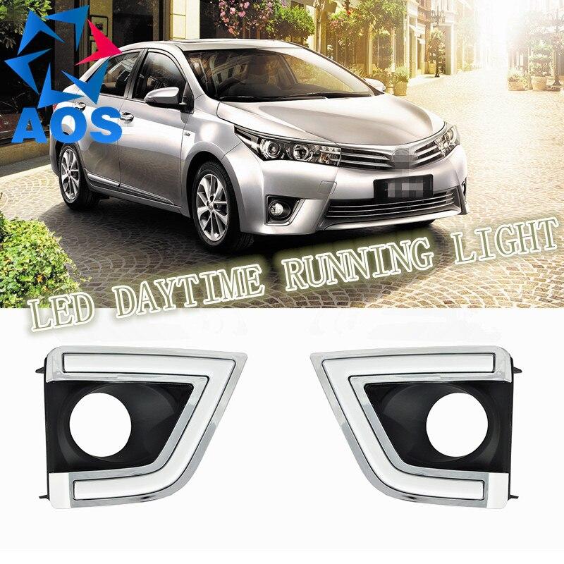 Acheter 2 Pcs/ensemble Super Lumineux LED DRL étanche Lumière Du Jour drl led Feux de jour Pour Toyota Corolla 2014 2015 de drl waterproof fiable fournisseurs
