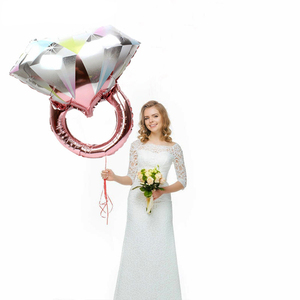 Image 4 - Chicinlife Rose Gold Bride To Beบอลลูนฟอยล์Tiara Crown HeadbandแหวนเพชรบอลลูนBachelorette Hen Party Supplies