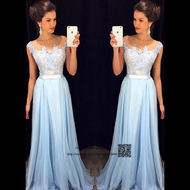 5268c9e65d Abendkleider 2017 Cordón de La Vendimia Vestidos de Baile Largo Azul Claro  Vestido de Fiesta de