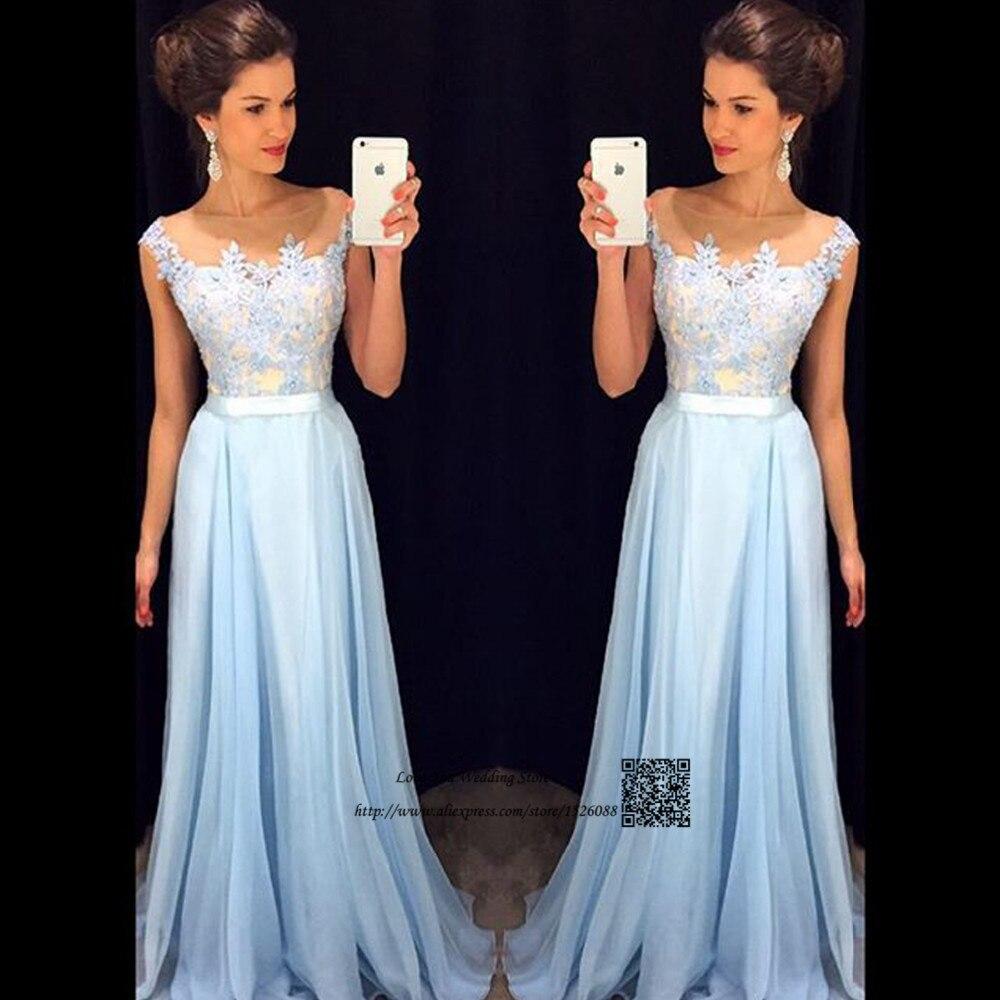 Abendkleider 2017 Vintage Lace Prom Dresses Long Light Blue Party Dress for  Graduation Vestidos de Gala Pageant Evening Gowns 5685006ca507
