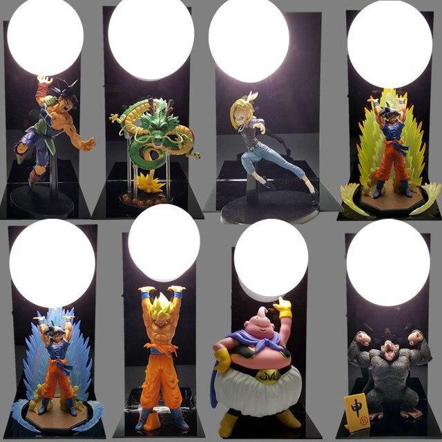 Dragon Ball Son Goku Spirit Bombs Table Lamp Luminaria LED Night Lights Dragon  Ball Room Decorative