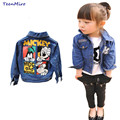 Kids Toddler girl blazer Denim Jacket Mickey clothing Spring Jeans coat Minnie Children Girls Outerwear jackets outfits clothes
