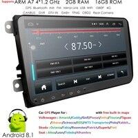 2 din 9 ''Android 8,1 2G Оперативная память автомобилей Радио Стерео gps Navi для VW Passat B6 cc Polo Гольф 5 6 Touran Jetta Tiguan Magotan сиденье BT МЖК