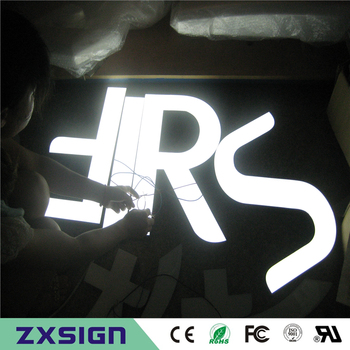 Factory Outlet Outdoor Brightest resin inside stainless steel side & back LED advertising sign letter store signs