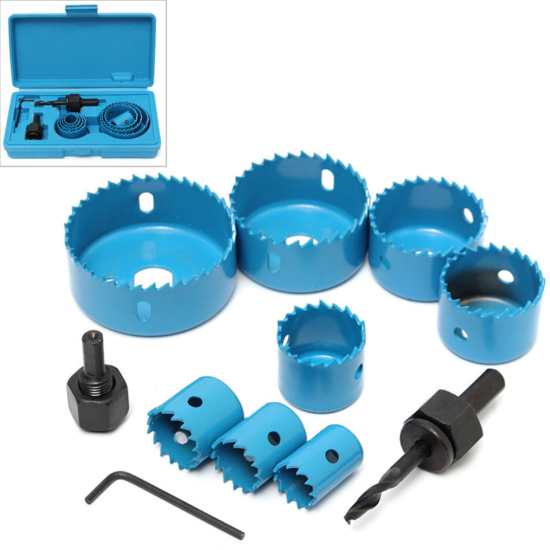 цена на Big Promotion 11 Pcs Hole Saw Cutting Set Kit 3/4 -2 1/2 Drill Bit Set For Wood Metal Cutter Circular Round Case Drill Bits
