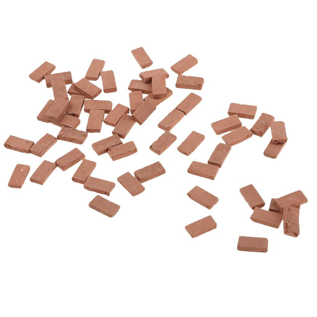 150x Miniature Gray Bricks Models 1.1X0.6cm Layout for Military Armor Scene