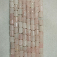 2016 Fashion top quality natural pink crystal stone Cylinder Beads 10x14mm for necklace Bracelet Making Wholesale 50pcs/lot free
