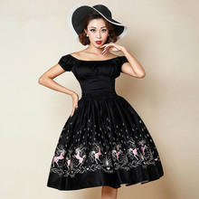 359a51a6fcb 30- summer women 50s vintage rockabilly pinup puff sleeve swing dress dress  in pink dancing horse plus size vestidos dresses