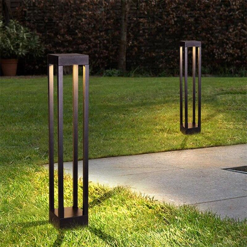 Grid Garden Light LED Lawn Lamps Outdoor Waterproof Modern Aluminum Square Lamp For Garden Lawn Gate Park Landscape Decoration