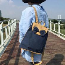Ручной работы из хлопка Японии и корейский стиль Рюкзак Kawaii милые девушки Повседневная парусиновая сумка дорожная сумка свежий лук рюкзак сумка