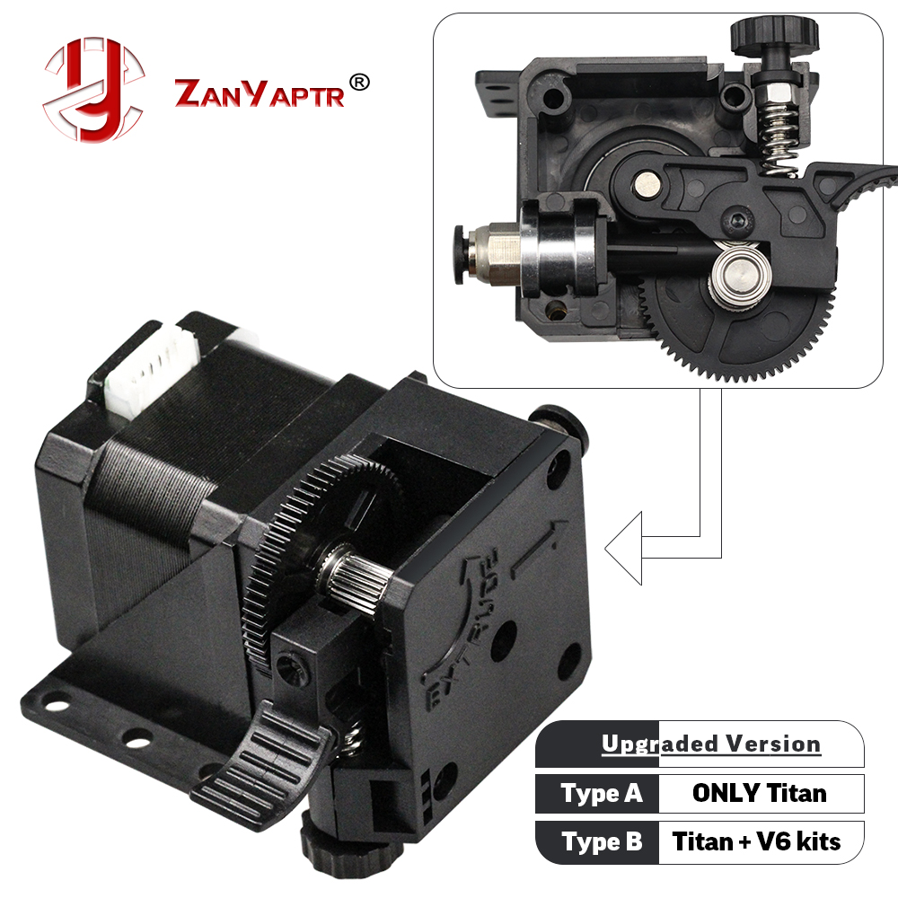 ZANYAPTR 3D Printer Titan Extruder Kits For Desktop FDM Reprap MK8 Kossel J-head Bowden Pruse I3 Mounting Bracket