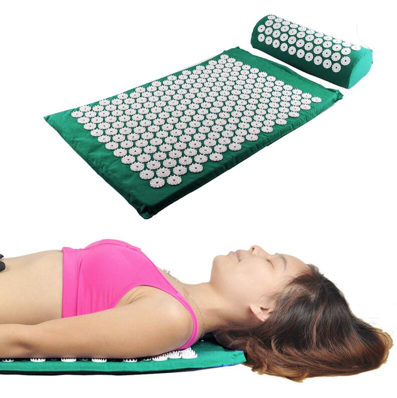 Health Care Massage Cushion Acupressure Mat Relieve Stress Pain Acupuncture Spike Yoga Mat Pillow Drop shipping acupressure yoga body massage mat