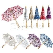 Горячая вышитый кружевной зонтик Свадебный зонтик Z07 Прямая поставка