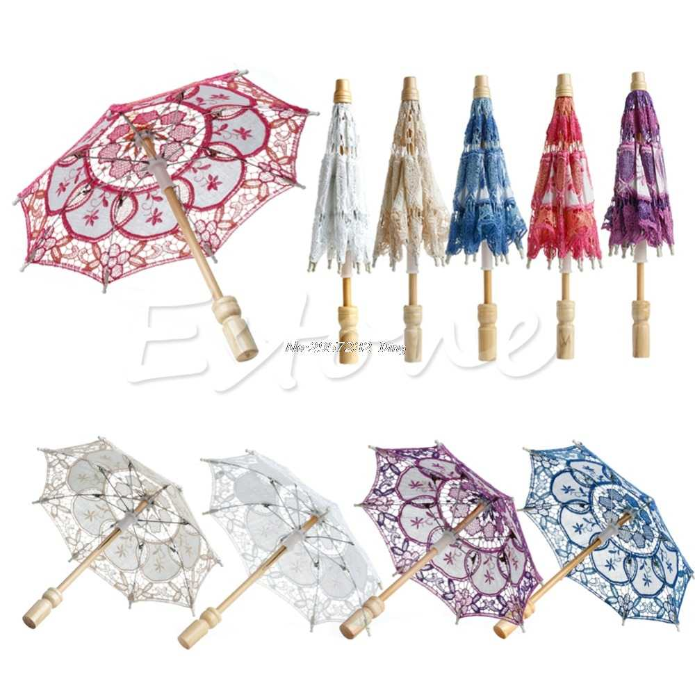 Hot Selling New  Embroidered Lace Parasol Wedding Umbrella  Z07 Drop Shipping Drop Ship