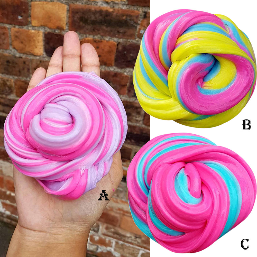 HIINST antistress slime Kids Fluffy Floam Slime Putty Durtend 60ml Scented Stress Relief Kids Clay Toy apr18hy