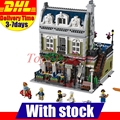 LELE 30007 Lepin 15010 Creator Expert  City Street Parisian Restaurant Model Building Kits Set Blocks Toy Clone 10243