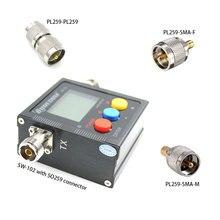 SURECOM SW 102 tester radiowy z trzema adapterami 125 520 MHz cyfrowy VHF/UHF moc i miernik SWR do radia samochodowego i radia hendheld SW102