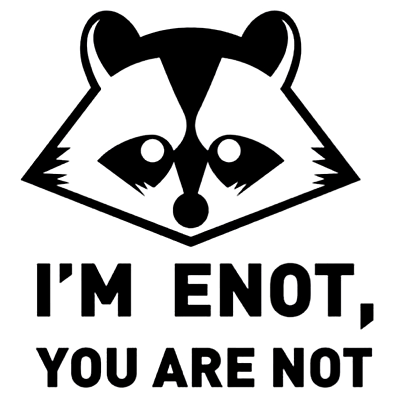Three Ratels TZ-1079 16*15cm 1-4 Pieces Car Sticker I'm Enot, You Are Not Funny Car Stickers Auto Decals