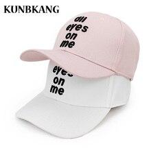 Alta calidad 3D bordado gorra de béisbol hombres mujeres carta ojos  Snapback sombrero negro Casquette pareja ocio sombrero Hip H.. 4cb8652eecd