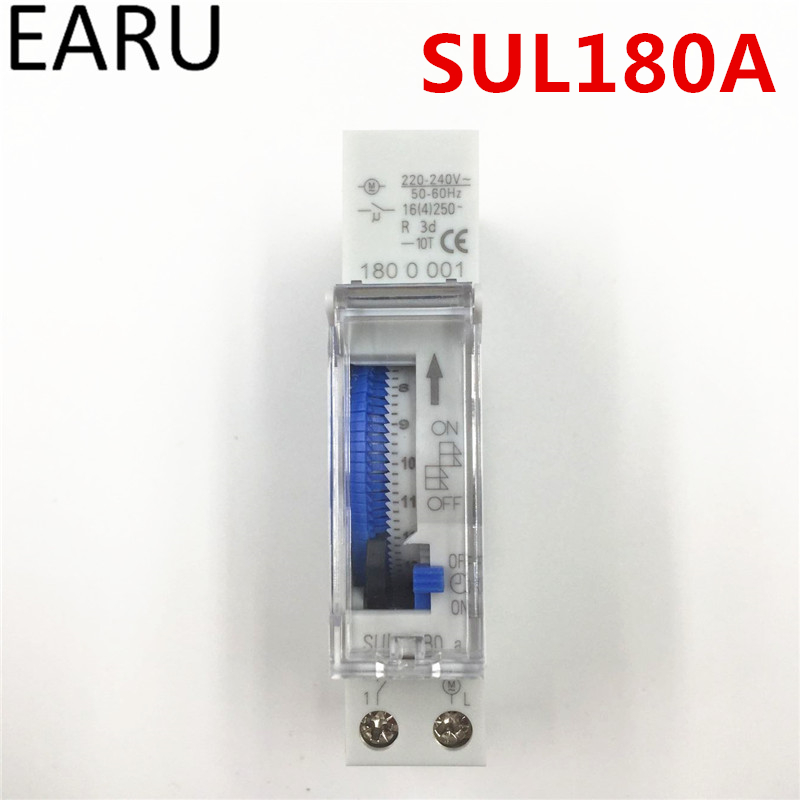 Free Shipping SUL180a 15 Minutes Programmable Din Rail Analog Mechanical Timer Switch AC 220V Time Switch Relay Auto Control Hot thc15a zb18b timer switchelectronic weekly 7days programmable digital time switch relay timer control ac 220v 30a din rail mount