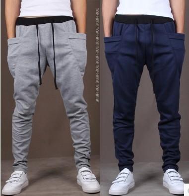 Mens Joggers Pantalones 2017 Marca Hombre Pantalones de Carga de Bolsillo Sólido Delgado Medias Pantalones Hombres Basculador de Compresión XXL