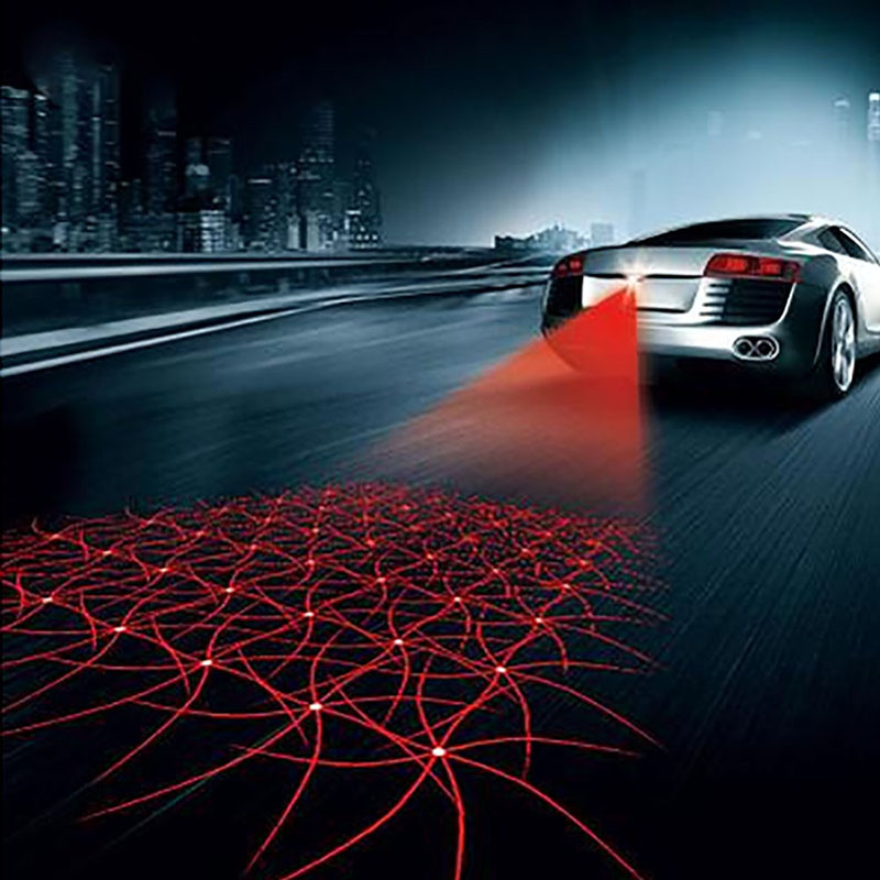 Car styling Car Laser Fog Light Rear Anti-Collision Driving Safety Signal Red Warning Lamp Brake Parking Light Auto Accessories